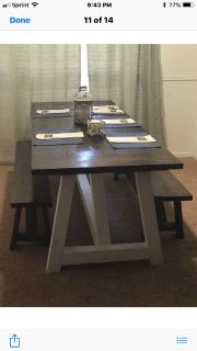 Custom Farmhouse table and benches