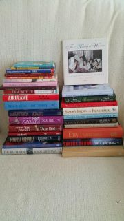 Over 25 Assorted books, many hardback. $3 each or all of them for $25. Some still new