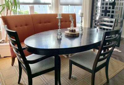 Dining table with chairs (settee optional)
