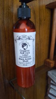 Black Amber Musk Organic Aloe Vera Lotion SALE BUY ONE GET ONE 1/2 Off