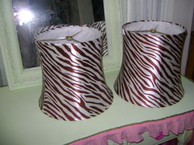 pair of CUTE zebra lamp shades