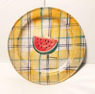 Modigliani Via Condotti Roma Watermelon Design Plate - Like New
