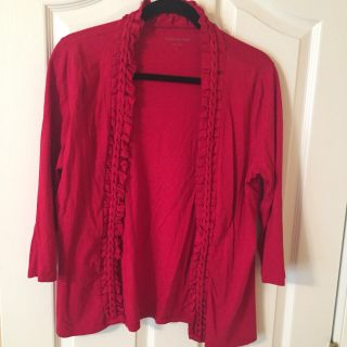 Coldwater Creek red cardigan size small