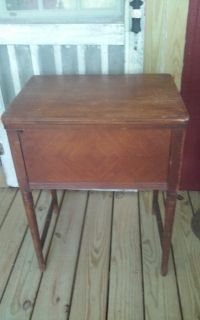 Vintage Wood Sewing Machine Cabinet Only