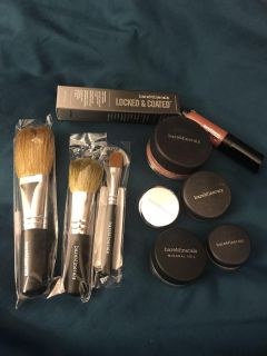 NEW unopened Bare Minerals makeup and brushes
