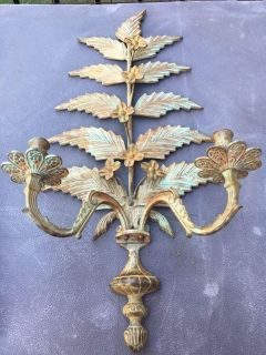 Iron Vintage Wall Candle Holder
