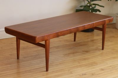 Danish Mid-Century Modern Coffee Table by J. Linde