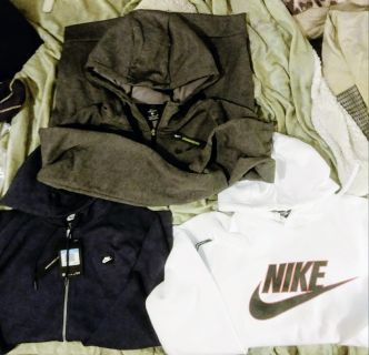 Medium Nike outer wear pullover and 2 zip ups