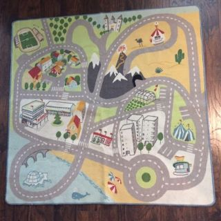Children s Floor Rug with Roads for Toy Cars
