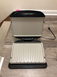 Large Foreman Grill with removable trays
