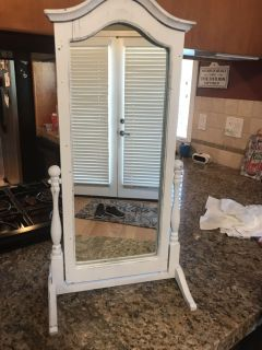 Adorable up cycled antique mirror.
