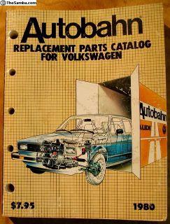 1954-1980 Genuine VW Autobahn Parts Manual