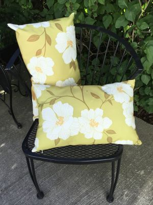 2 Outdoor Patio Cushions