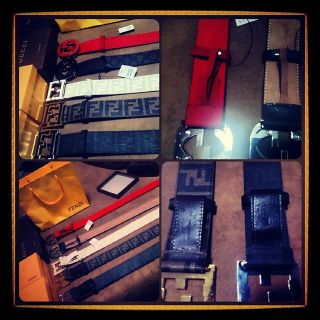new gucci fendi Designer belts