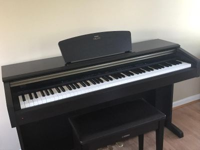 YAMAHA ARIUS YDP-181 the best weighted 88-key digital piano and bench (dark rosewood)