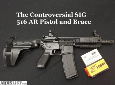 For Sale/Trade: Sig Sauer Gas Piston AR 15 Pistol