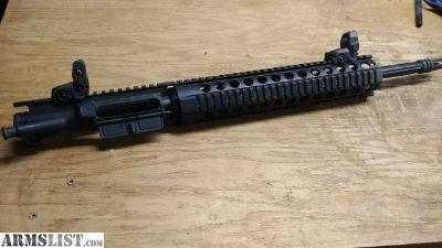 "For Sale: AR 556 Upper 16"" Quad Rail"