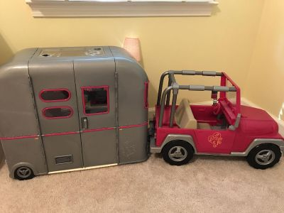 Our Generation Camper and Jeep