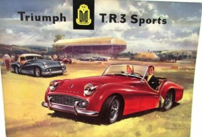 Sell Original 1958 Triumph Dealer Color Sales Brochure Folder TR3 Sports Car motorcycle in Holts Summit, Missouri, United States, for US $22.58