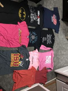T-shirts and hoodies