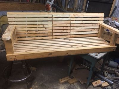Hang Crafted Porch Swing