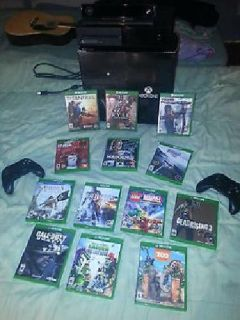 XBOX ONE w/KINECT, 2 CONTROLLERS, 13 GAMES
