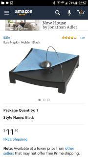 Ikea napkin holder, black