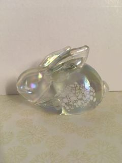 Rabbit iridescent color 4 x2 3/4 paper weight 3$