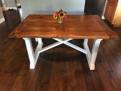 Farmstyle Kitchen Table with Bench