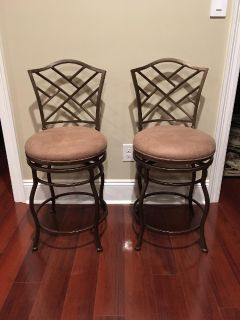 """New Set of Two Hillsdale Furniture 24"""" Counter Height Hanover Bar Stools"""