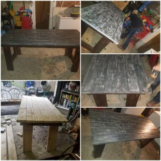 Handmade solid wood kitchen dinner table