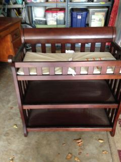Baby dressing and diaper changing table