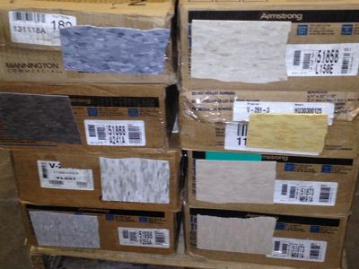 Pre- Moving Sale Carpet Tile. LVT, VCT, Rubber Exercise Flooring, Adhesives, Grout and more