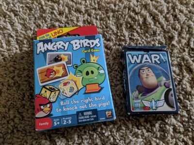 Two Games Angry Birds and Toy Stort War
