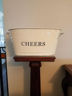 """Galvanized """"CHEERS"""" Tub ~ $20 each ~ have 3"""