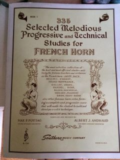 335 Selected Melodious Progressive and Technical Studies for French Horn