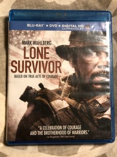 LONE SURVIVOR starring Mark Wahlberg dvd movie only! Blu-ray one missing