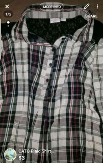 CATO Plaid button up shirt