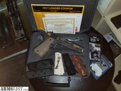For Sale: Springfield Armory 1911-A1 Battlefield Cross Edition w/extras