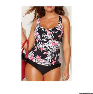 Pink and Flower Swim Suit