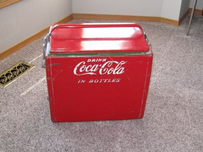 Vintage Coca Cola Bottle Chest Cooler Cavalier