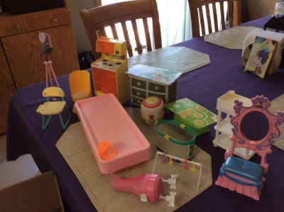 Lot of Barbie items