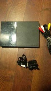 Ps2 Slim + power cable + video cables