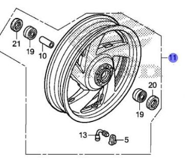 Sell HONDA OEM FRONT WHEEL SUB ASSY 2013-2016 GL1800B GOLDWING F6B 44650-MJG-305 motorcycle in Maumee, Ohio, United States, for US $661.99