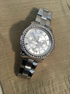 Brand New Juicy Couture Women s Pedigree Stainless Steel Crystal 38mm Quartz Swiss Made Watch 1901048
