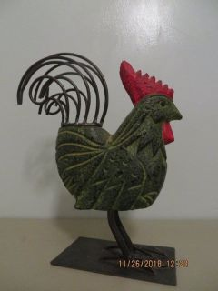 Modern Take on Cast Iron Rooster Statue/ Door Stop/ Garden Ornament