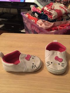 Hello kitty 6-9m white shoes - ppu (near old chemstrand & 29) or PU @ the Marcus Pointe Thrift Store (on W st)