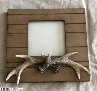 For Sale: Wood Picture Frame w/Antlers