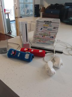 Nintendo Wii w/all controllers & 13 games