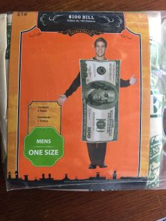 100 dollar costume one size fits all